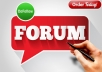 Manually create 200+ Do Follow Forum Profiles Backlinks Best for Your SEO