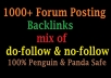 Create 1000 forum Posting backlinks Best for Your SEO