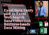 I provide DATA ENTRY high level service, I'll do your data entry tasks accurately