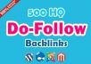 Do 500 Do-follow high PR4-PR7 Backlinks for website ranking