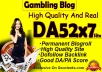 give you backlinks da52x7 site Gambling blogroll permanent