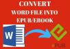 Convert Word file INto Epub/Ebook
