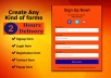 Create sign up form, Mailchimp form, contact form, pop up form