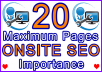 20 Maximum Pages Onsite SEO Importance Setup