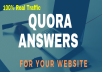 Professional 15 Quora Answer with Backlink for your service.