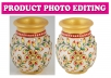 15 Product Images background removal and retouching for online stores