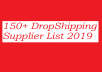 150+ DropShipping Supplier List 2019