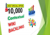 10,000 Seo friendly WiKi baxjlinks for Your SEO