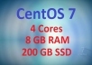 CentOS 7 VPS with 8GB RAM and 200GB SSD Space