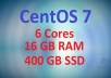 CentOS 7 VPS with 16GB RAM and 400GB SSD Space
