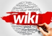 Cheap But High Quality 1000 Wiki articles Backlinks