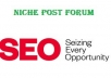 I can do 8 niche post forum for your website.