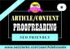 Proofreading / Rewriting / Editing service to make your Article / Content so much Better and Unique