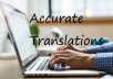 I will translate 10.000 words in one of 9 different Languages