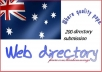 I will do200 high da web directory submissions