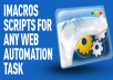 Get imacros Script to do your web tasks instead of you