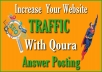 I Will Provide 35 High Quality Quara Answer For Target Traffic
