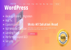 Wordpress Custom design, for your business, brand or company