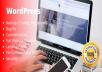 Create professional responsive wordpress design website blogs