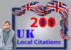 I will create best 200 UK local citations