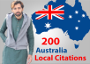 I will create 200 best australia local citations