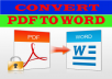 design PDF/JPEG File to Doc word document or PDF urgently