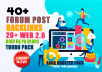 40 high quality forum posting backlink With 20 web 2.0 Blogs