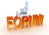 I can do 8 niche relevant post forum for your website