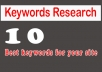 i will provide niche relevent SEO based keyword research