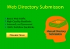 I can do high PR 40 web directory submission