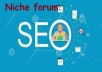Want to rank up your website I will do 8 niche forum