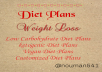 Diet Plans for Weight Loss and Fitness