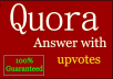 Real Traffic & Upvote give in 12 Quora backlink