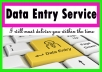 Data entry work can be done in time period
