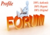 I can do HQ 30 profile forum for your website