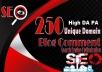 250 Blog Comment Dofollow Backlinks High DA PA google Rank Website Traffic Obl Low