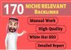 170 Blog Comment Niche Relevant Backlinks High DA PA google Rank Website Low Obl Traffic