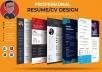I Will Make Professional CV, Resume and Portfolio Design