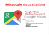 Do 500 Local Citations Manually For Local SEO Ranking google maps citations with add driving route