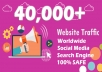 40,000 boost website keyword real organic targeted web traffic facebook, instagram, youtube, twitter