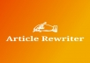 I will manually rewrite your 1000 words article to pass copyscap