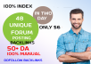 Provide Unique dofillow 48+Forum Posting Backlinks best for Your seo to rank keywords