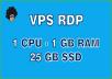 Provide VPS Windows/Linux 1vCPU 1GB RAM