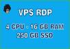 Provide VPS Windows 4vCPU 16GB RAM