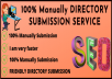 Create 30 SEO-Friendly Directory Submission Service