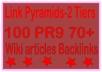 Top Multi-Tier Backlinks - 10000 PR9 DA 70+ &. Wiki articles Tiered Backlinks For SEO