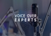 I am good at working with voiceover,