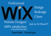 I will design and redesign wix website professionally