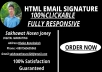 I will make design a top quality HTML email signature