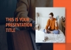 I will create a modern PowerPoint presentation, redesign slides and templates